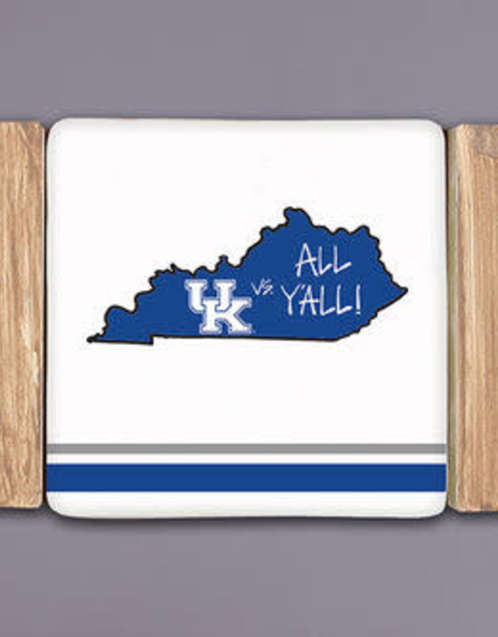 Kentucky Wildcats Striped Coasters - Set of 4