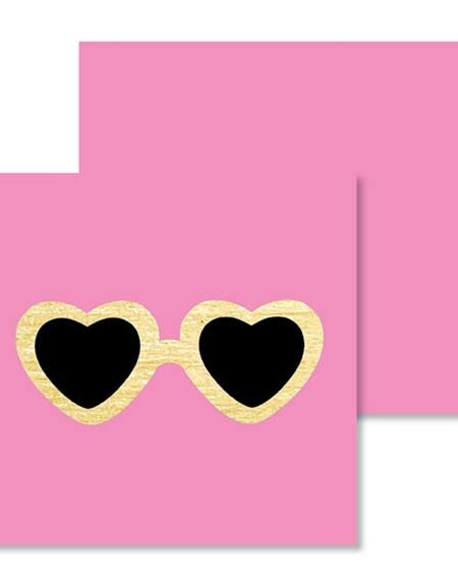 Mini Enclosure Card - Heart Glasses