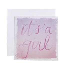 Mini Enclosure Card - It's a Girl