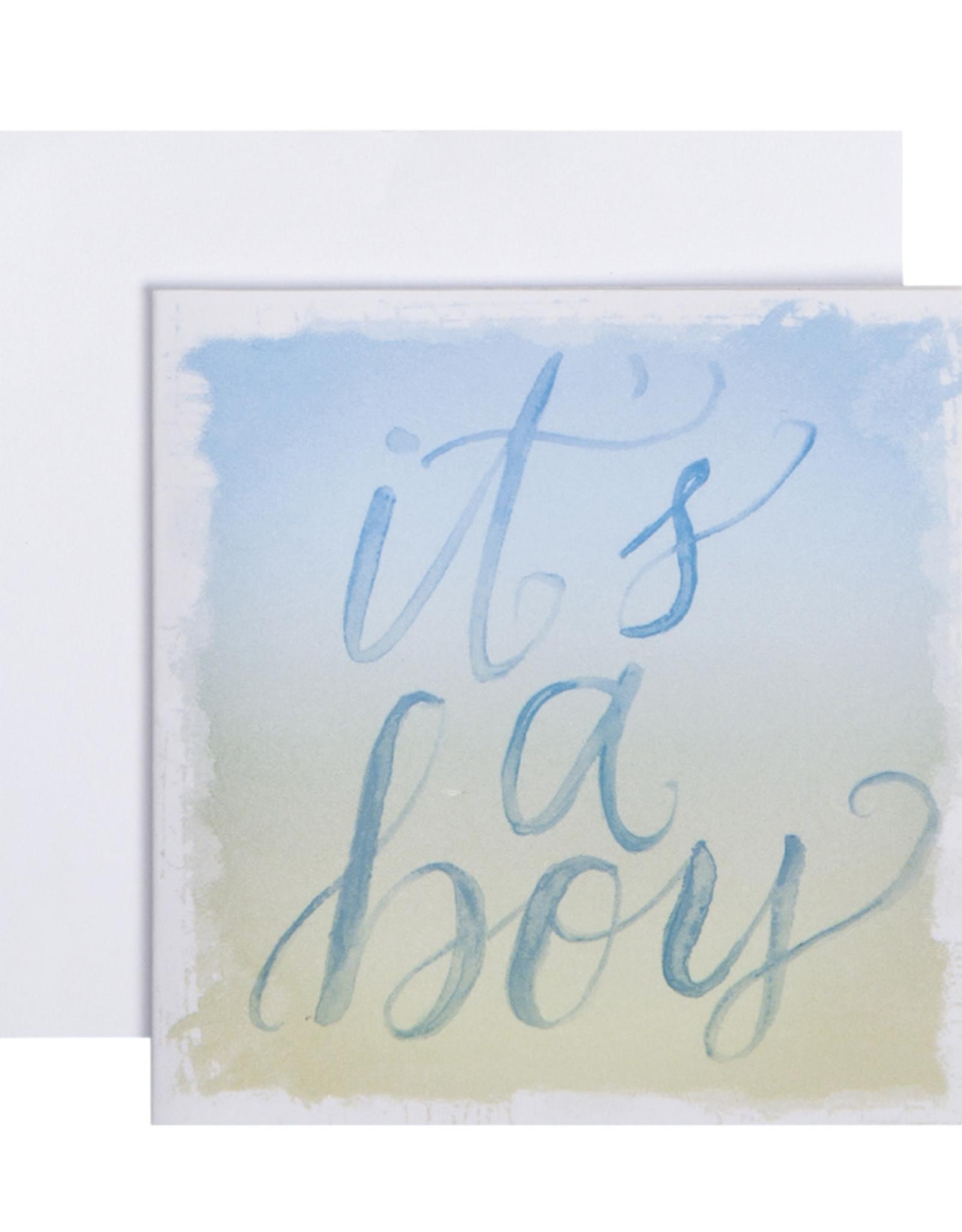 Mini Enclosure Card - It's a Boy
