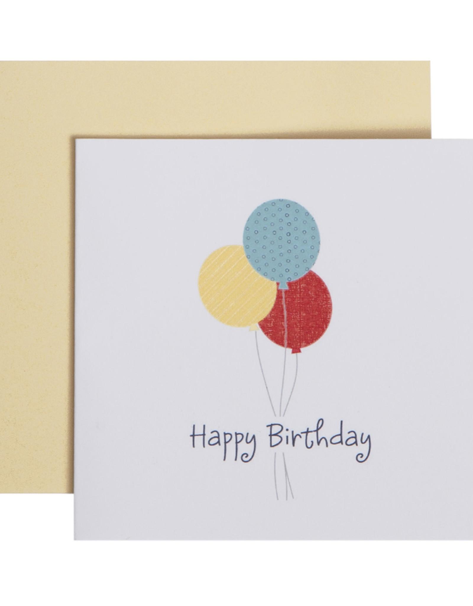 Mini Enclosure Card - Happy Birthday - Balloons