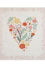 Mini Enclosure Card - Floral Heart