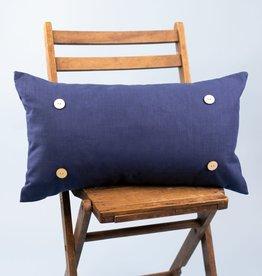 Button Pillow - Navy