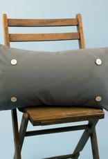 Luckybird Button Pillow - Gray
