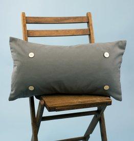Button Pillow - Gray