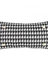 Luckybird Button Pillow - Black/White Houndstoothht