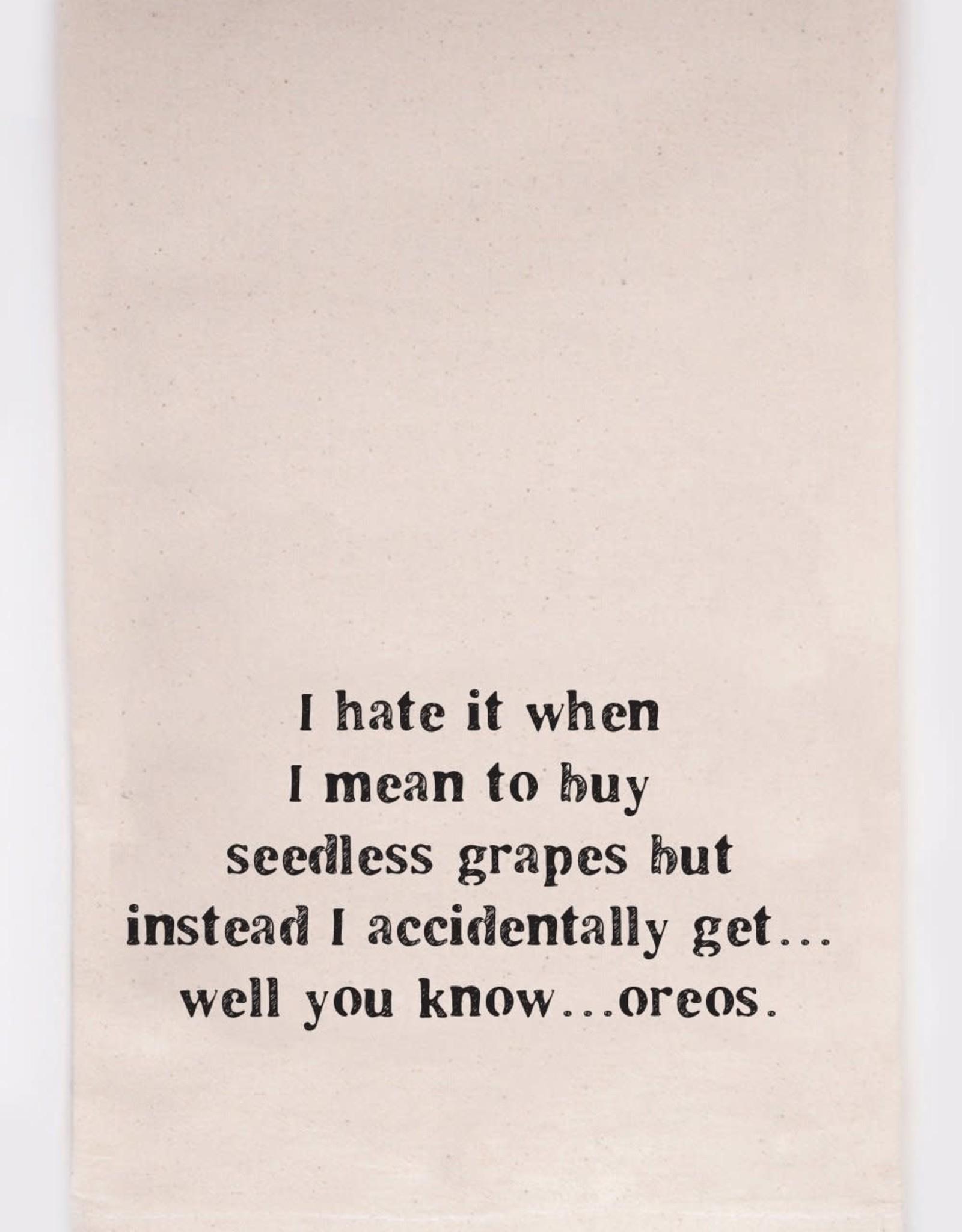 Kitchen Towel - Grapes to Oreos