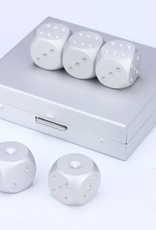 Men's Brushed Dice Set - Stainless