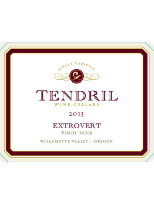 2013 Tendril Cellars Pinot Noir Extrovert 750ml