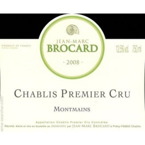 2018 Jean-Marc Brocard Chablis 1er Cru Montmains 750ml