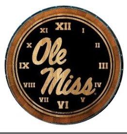 Timeless Etchings Barrel Clock - Ole Miss