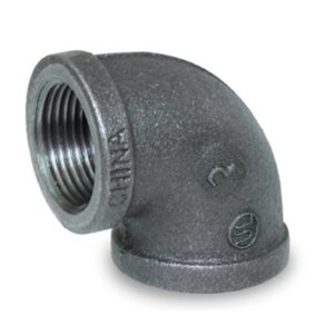 "1/2"" ELBOW 90, BLACK MALLEABLE"