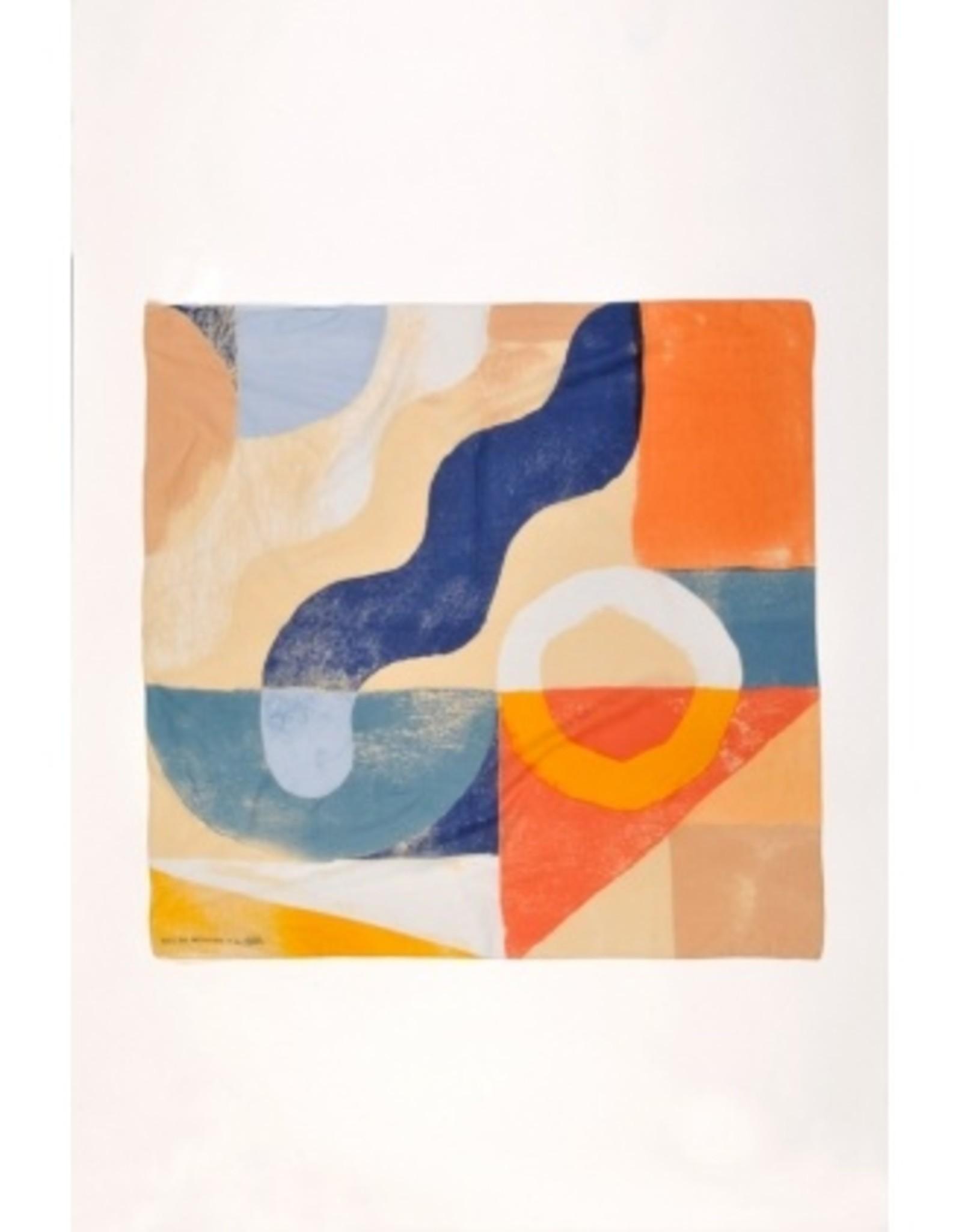 Mat de Misaine Foulard carré abricot 19474