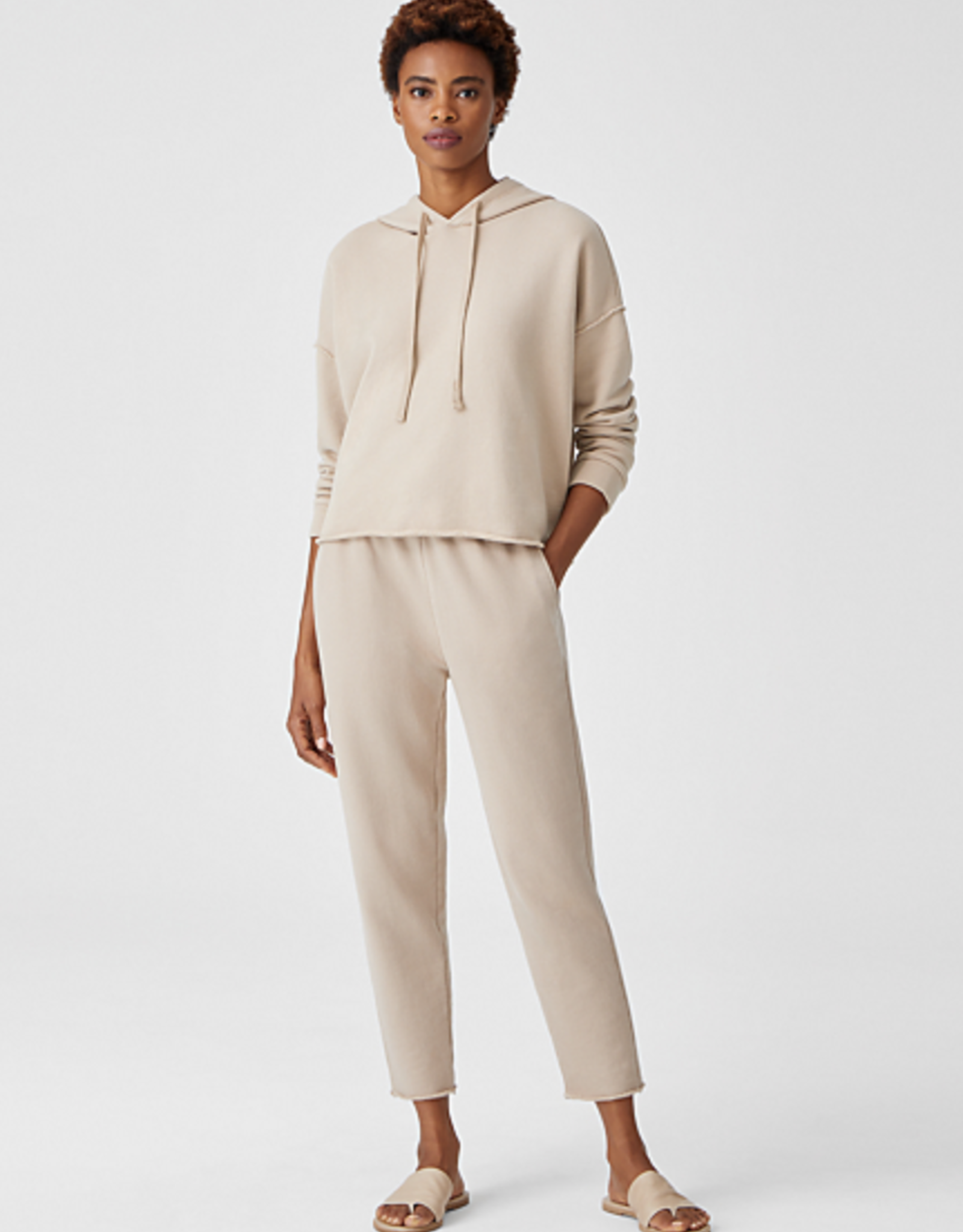 Eileen Fisher S1AEB-T5675M Hoodie Cropped