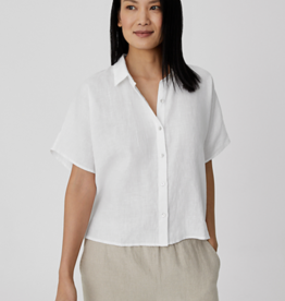 Eileen Fisher S1OLA-T5704M Chemisier Crop Lin