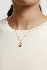 Wolf Circus Rose Coin Necklace in Gold