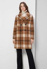Manteau Teddy à carreaux