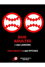 Grand Chelem Duo adults + 250 free pitches