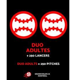 Grand Chelem Abonnement Duo adultes + 250 lancers