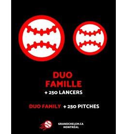 Grand Chelem Abonnement duo famille  + 250 lancers