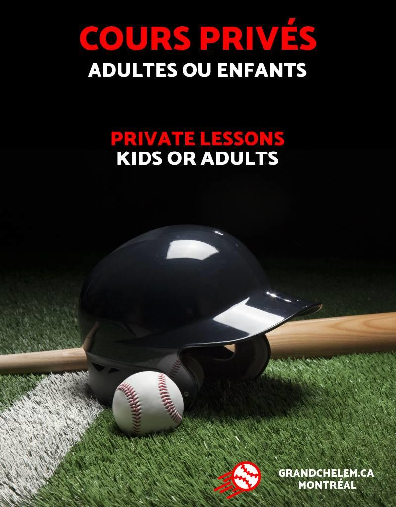 Grand Chelem Cours privés - Baseball & softball