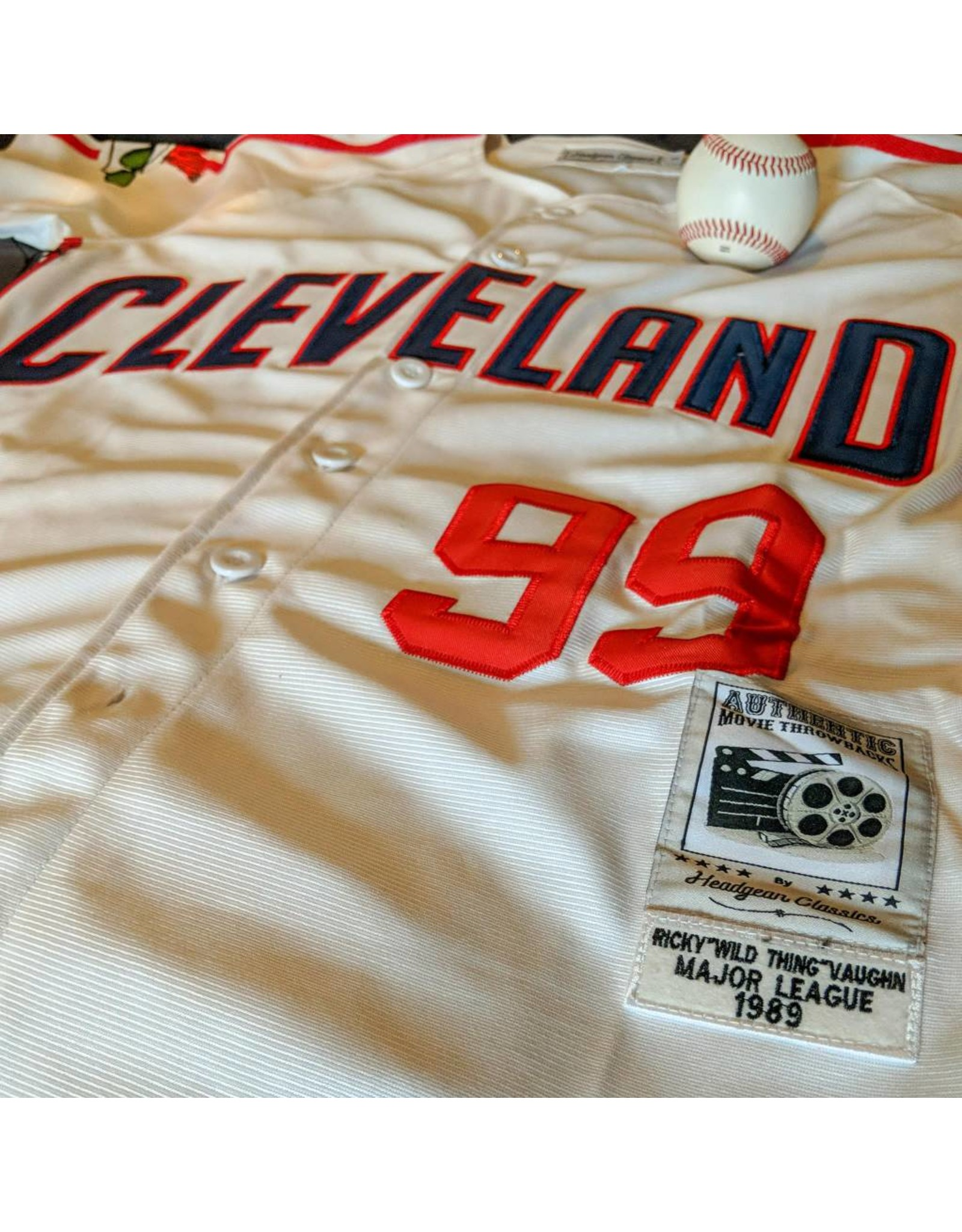 "Headgear Ricky Vaughn ""Wild Thing"" Major League Movie Jersey"