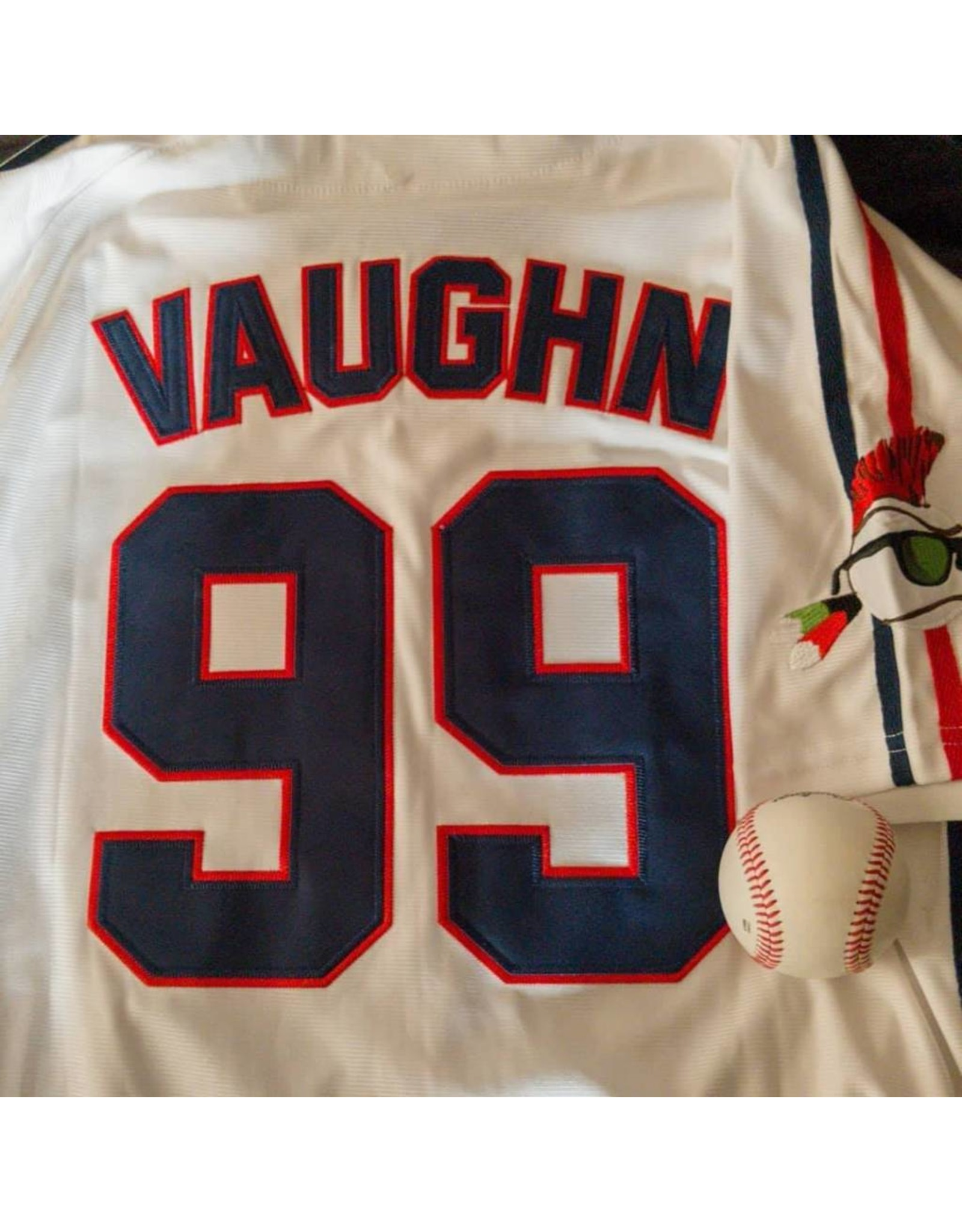 "Headgear Chemise Ricky ""Wild Thing"" Vaughn Major League Movie Jersey"