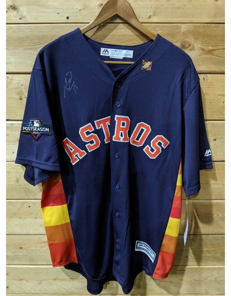 Men's Majestic Navy Houston Astros 2019 Postseason Official (Signé Toro)