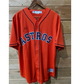 Men's Majestic Orange Houston Astros Alternate Official Team (Signé Toro)