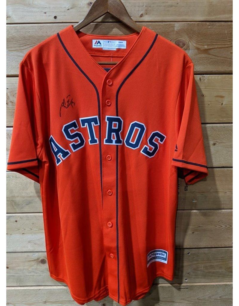 Men's Majestic Orange Houston Astros Alternate Official Team (Signé Toro)