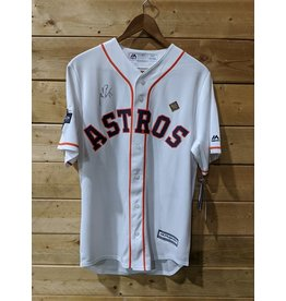 Men's Majestic White Houston Astros 2019 Postseason Official (Signé TORO)
