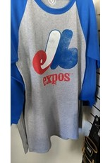 Copy of 47 - Expos MLB T-Shirt 3/4  Distressed Imprint Adulte - Small