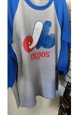 47 - Expos MLB T-Shirt 3/4  Distressed Imprint Adulte - X-Large