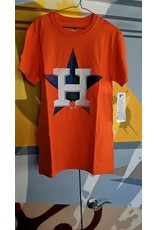 Majestic - Men's Orange Houston Astros Slash & Dash - T-Shirt - Medium