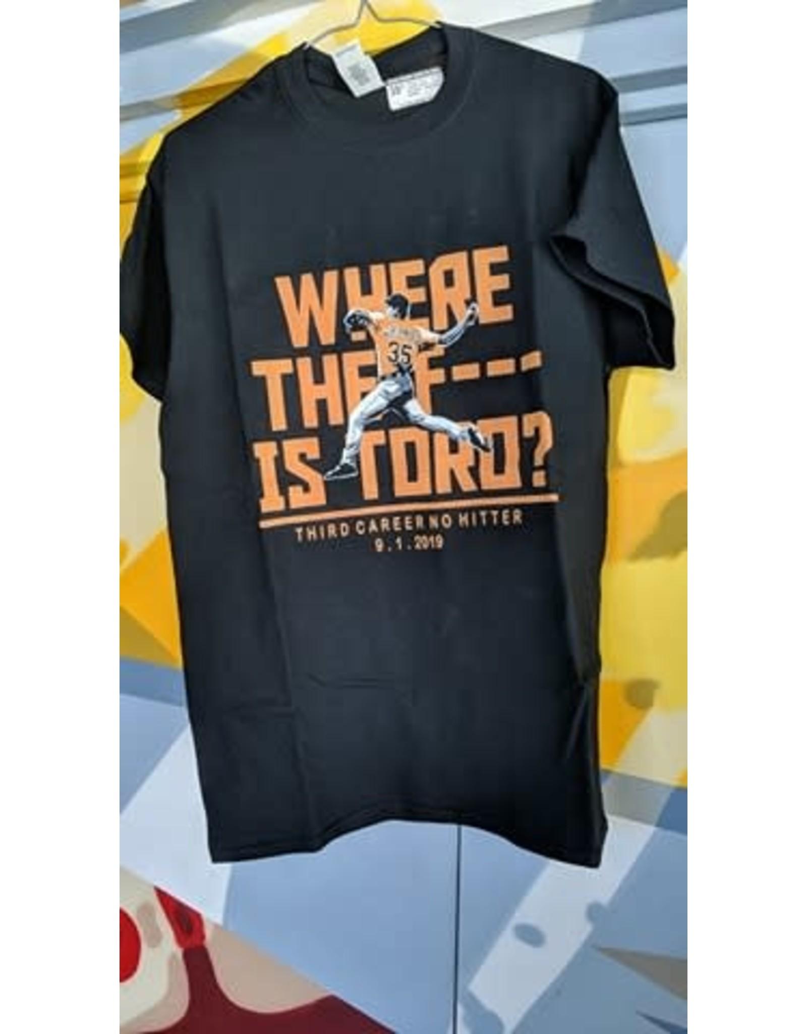 Copy of WHERE THE f*** IS TORO CLASSIC SHIRT - Justin Verlander / Third Career NoHitter