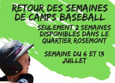 Camps baseball 2020