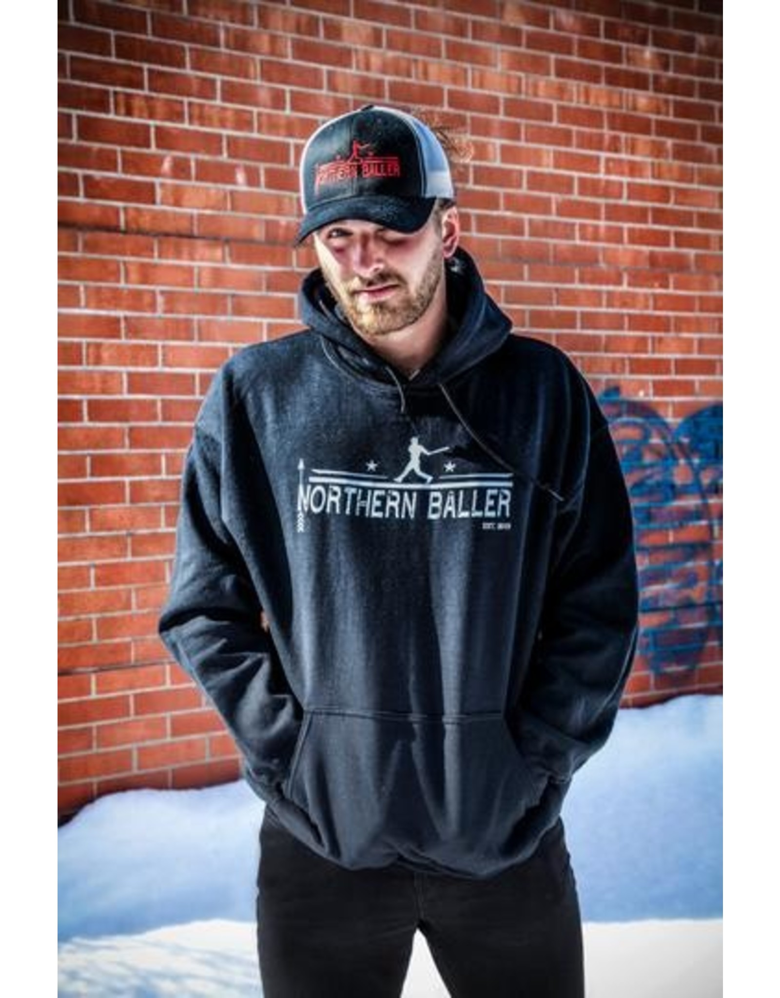 NORTHERN BALLER - Hoodie à manches longues