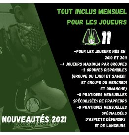 Copy of Tout inclus mensuel U11  (Groupe du lundi et samedi)