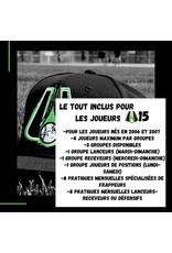 Tout inclus mensuel U15  Groupe lanceurs  (mardi-dimanche)