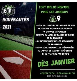Copy of Tout inclus mensuel U9 1x semaine (Groupe du lundi)