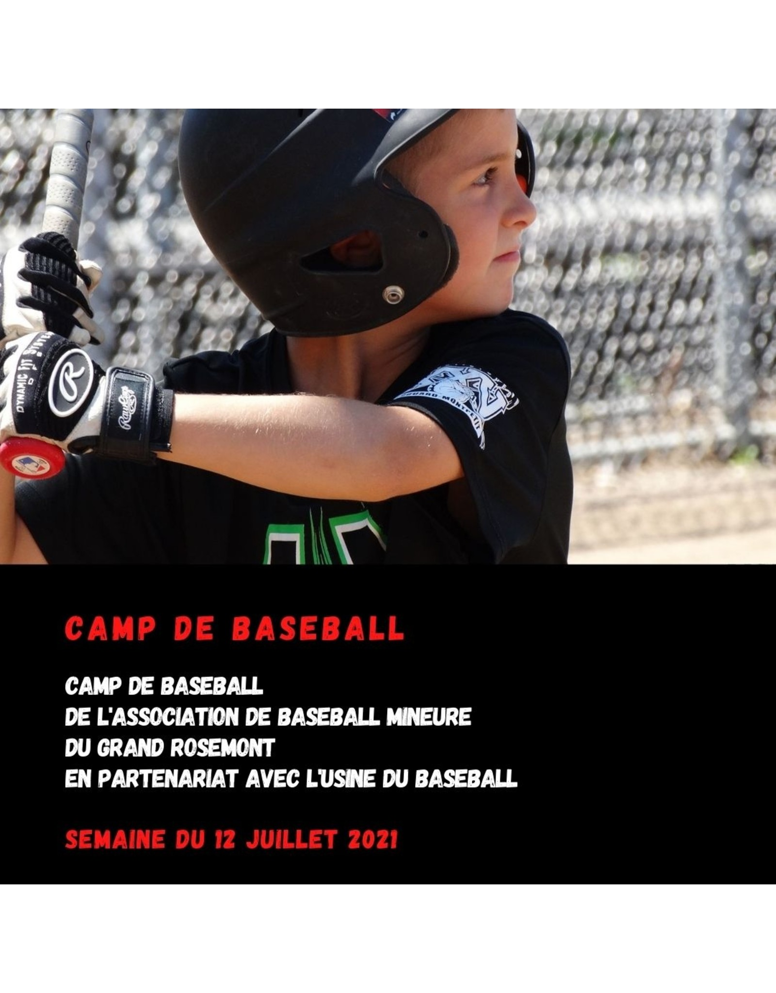 Copy of Camp baseball Rosemont 12 juillet U12 (11-12 ans)