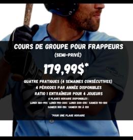 Cours de groupe Frappeurs U9 (semi-privé)