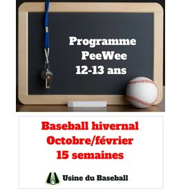 Usine du baseball PeeWee Program - Winter baseball 2018-2019 - Usine du baseball