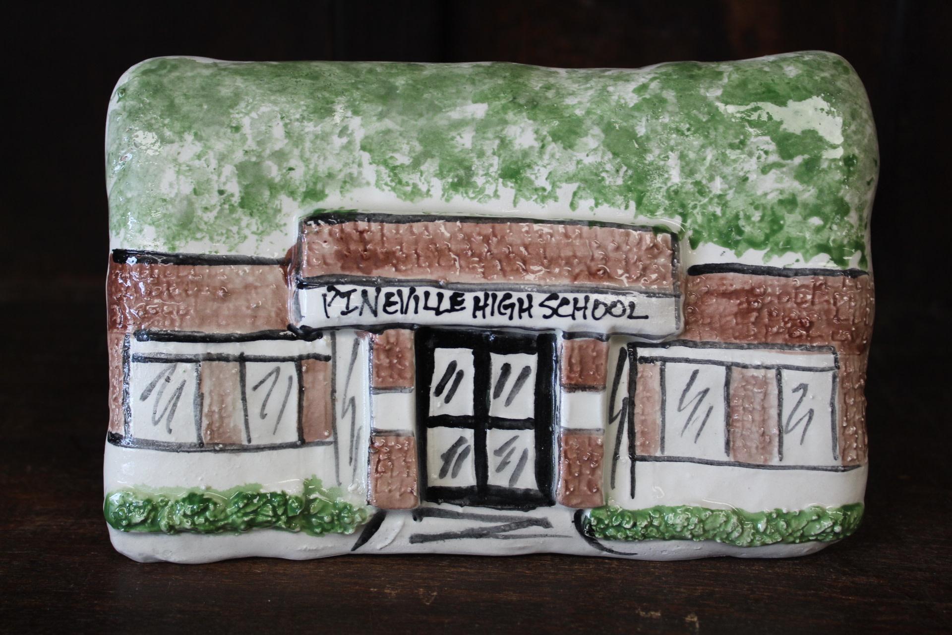 Architectural Memories Pineville High School Plaque