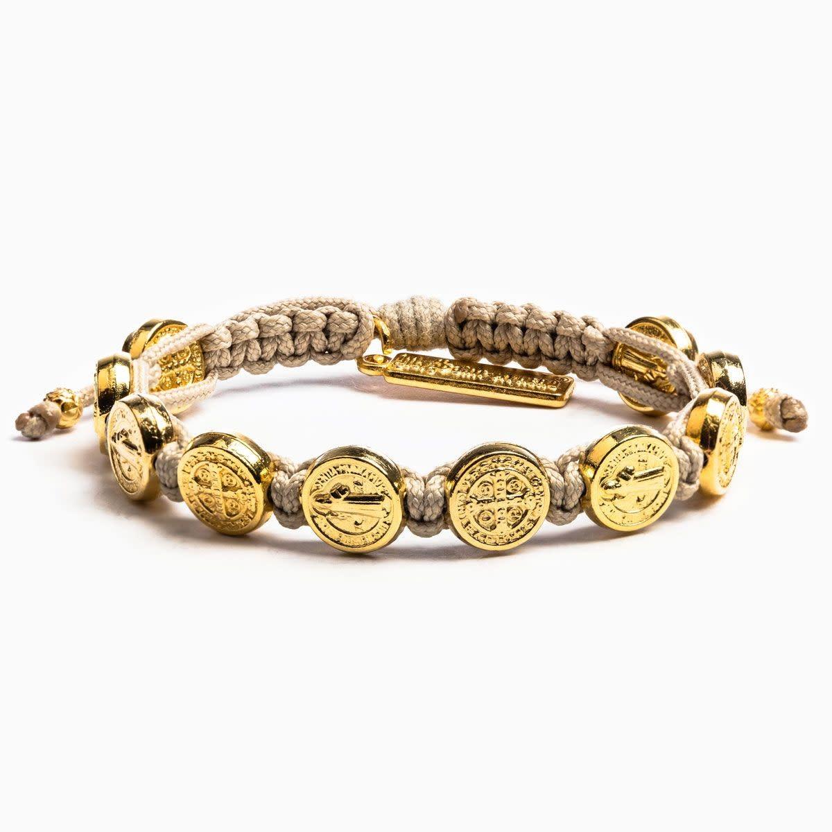 My Saint My Hero Benedictine Blessing Bracelet Gold Medals