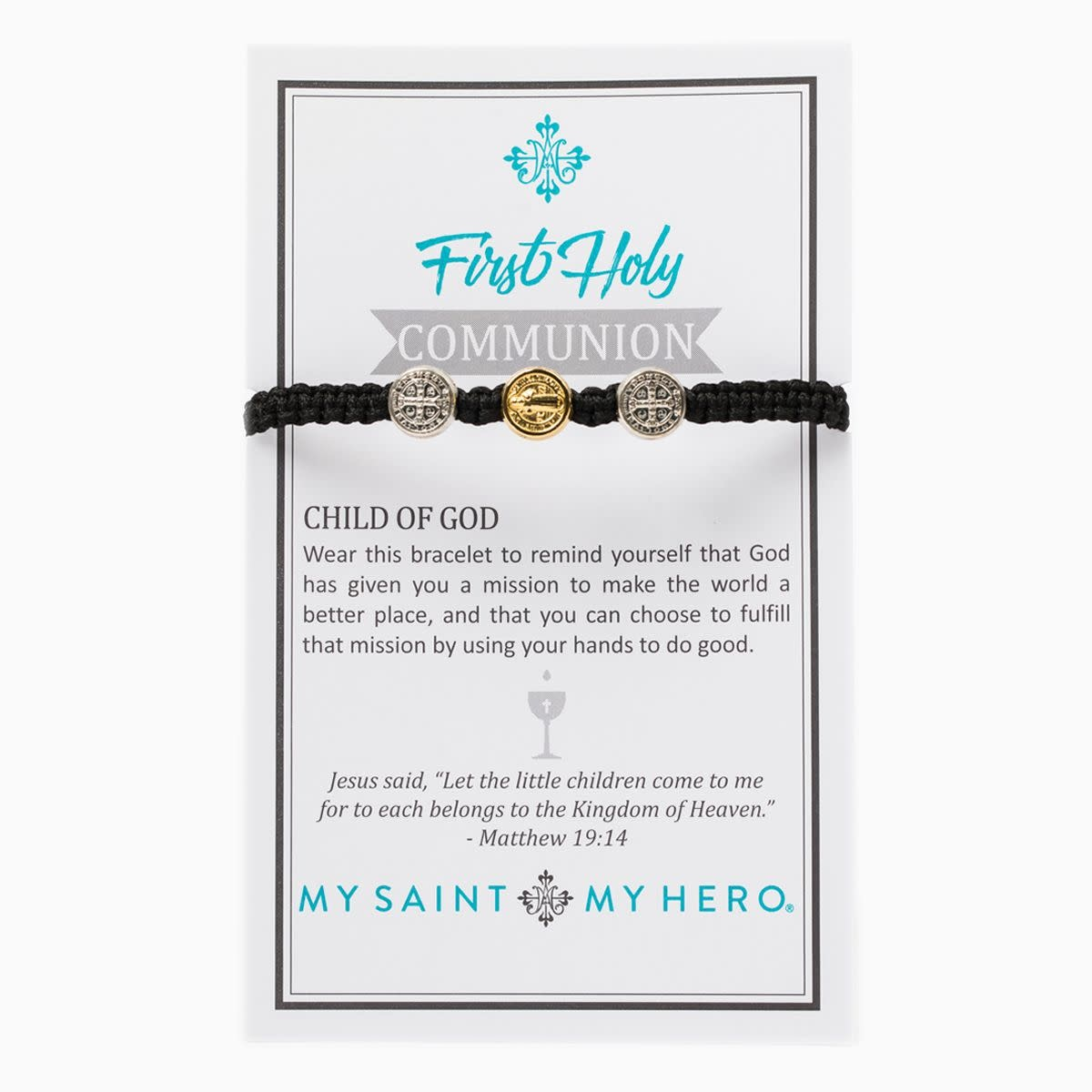 My Saint My Hero Kids First Communion Blessing Bracelet
