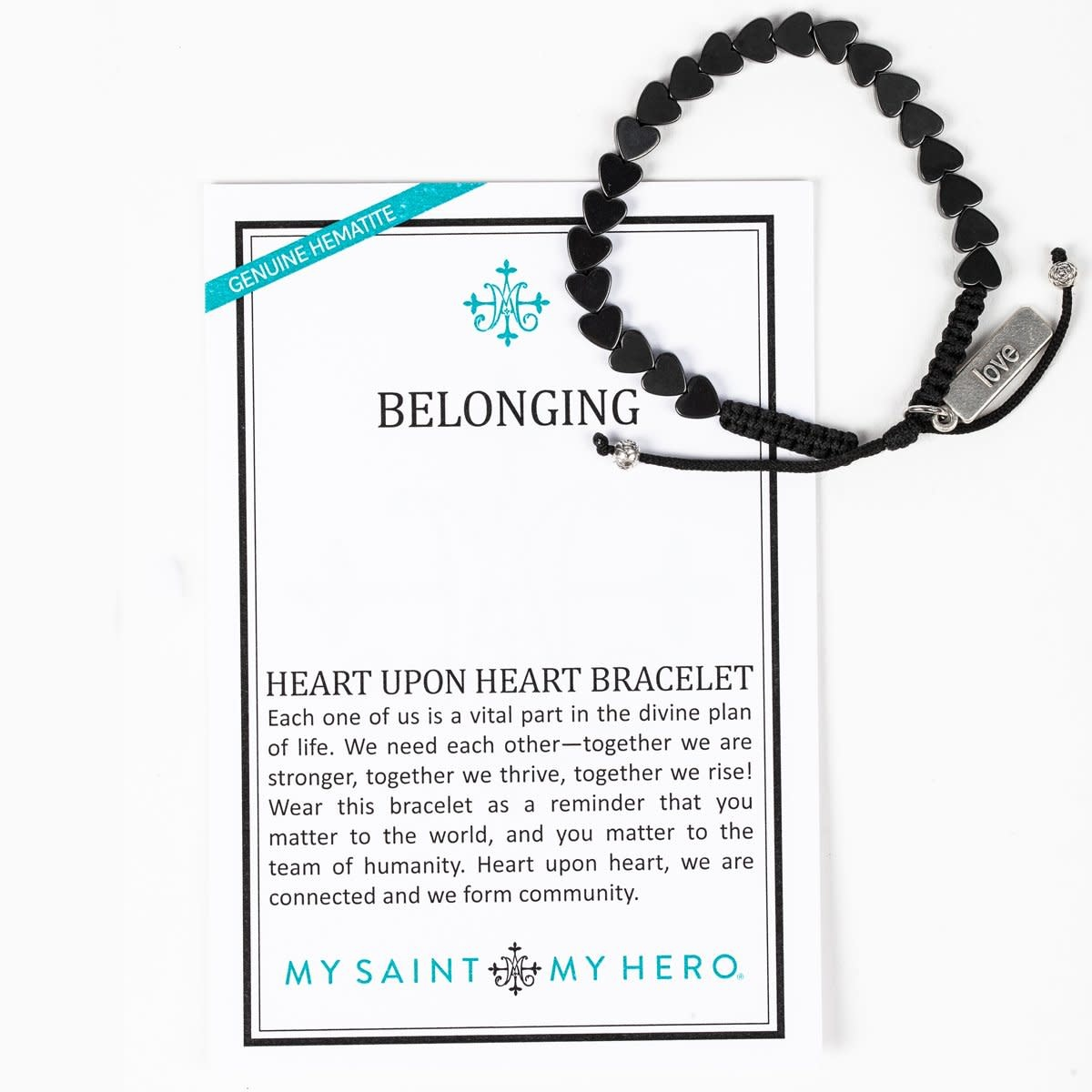 My Saint My Hero Heart Upon Heart Bracelet