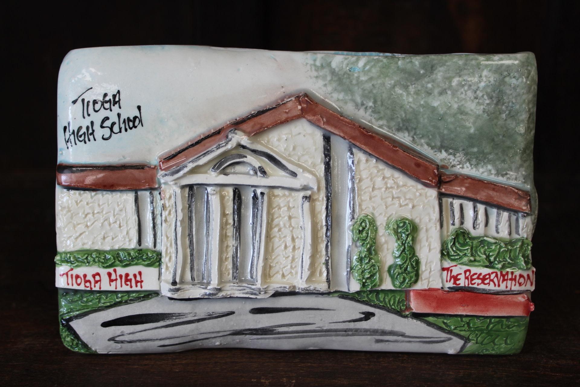 Architectural Memories Tioga High School Plaque