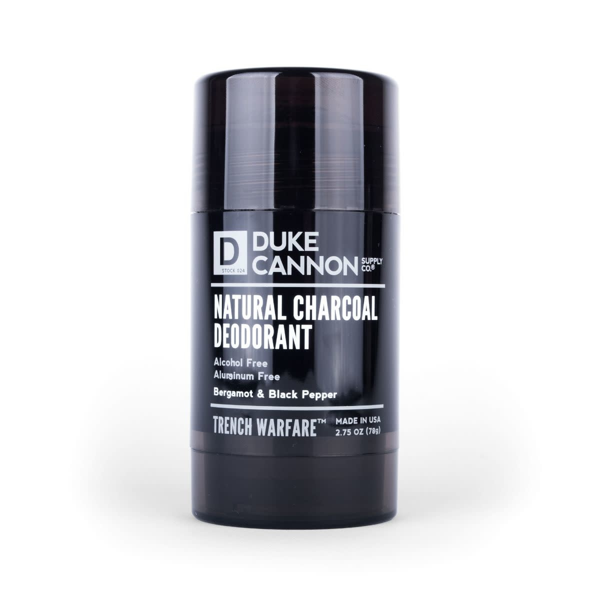 Duke Cannon Trench Warfare Bergamot & Black Pepper Natural Charcoal Deodorant