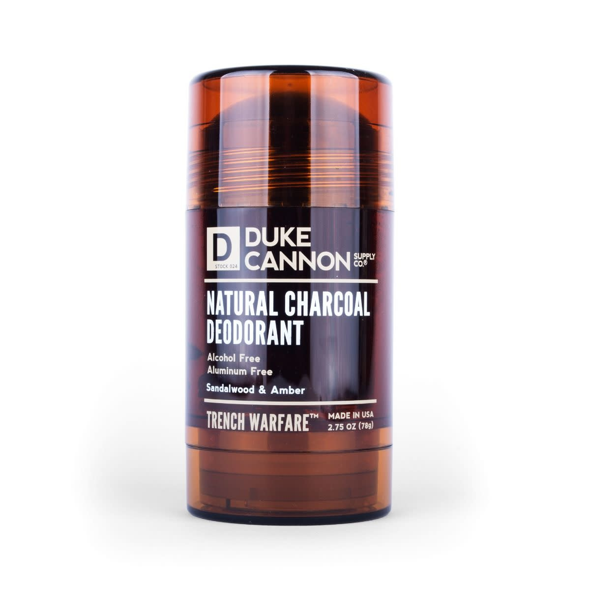 Duke Cannon Trench Warfare Sandalwood & Amber Natural Charcoal Deodorant